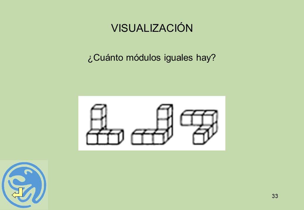 VISUALIZACIÓN ¿Cuánto módulos iguales hay
