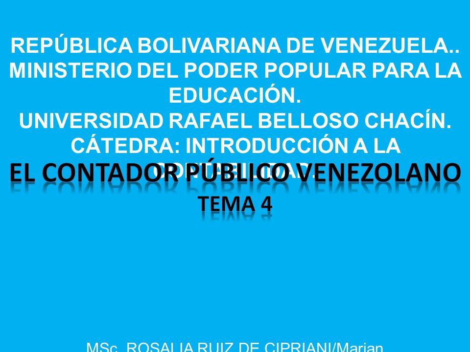 EL CONTADOR PúBLICO VENEZOLANO