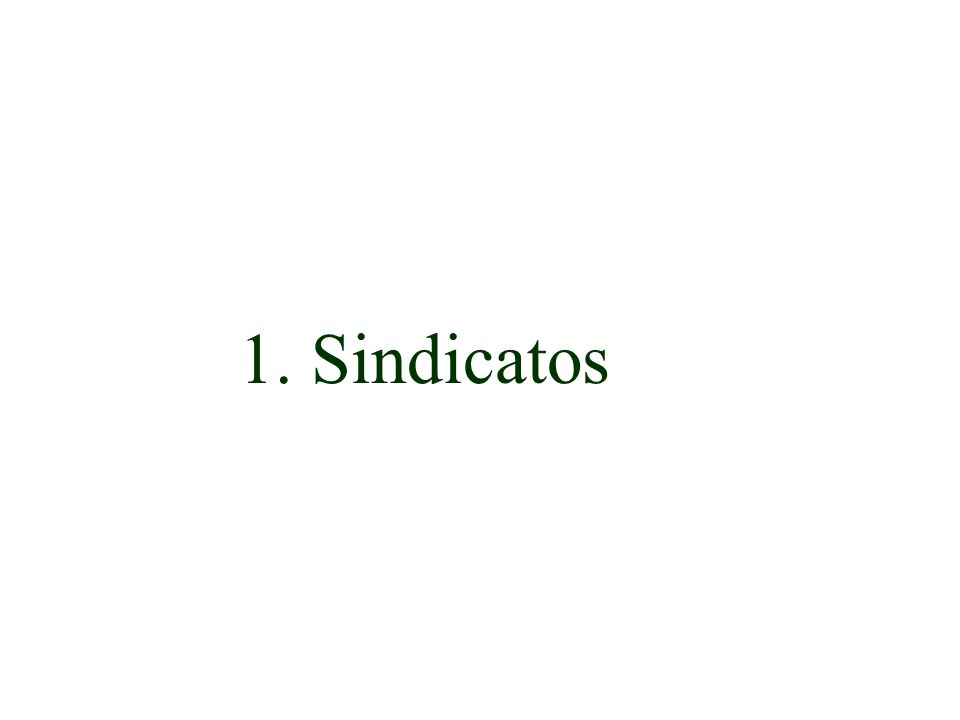 1. Sindicatos