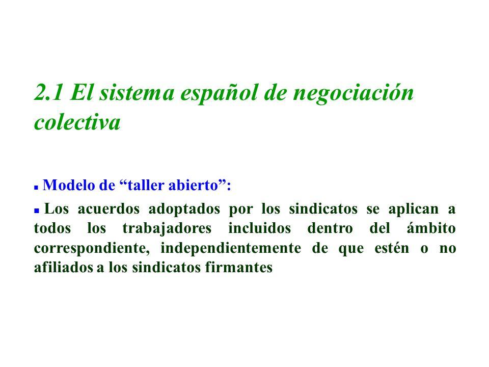 2.1 El sistema español de negociación colectiva