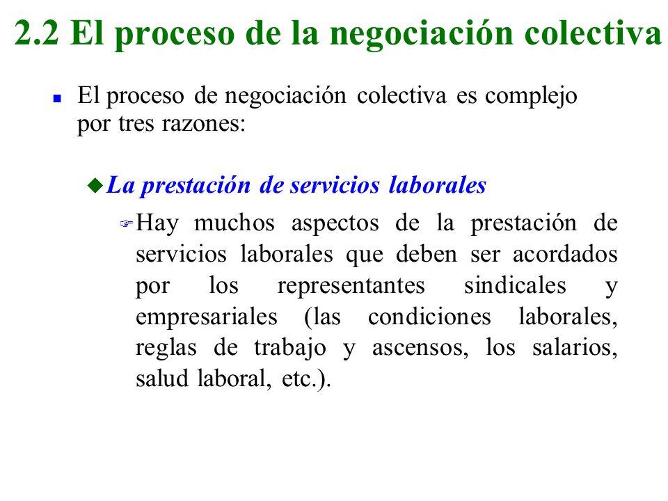 2.2 El proceso de la negociación colectiva