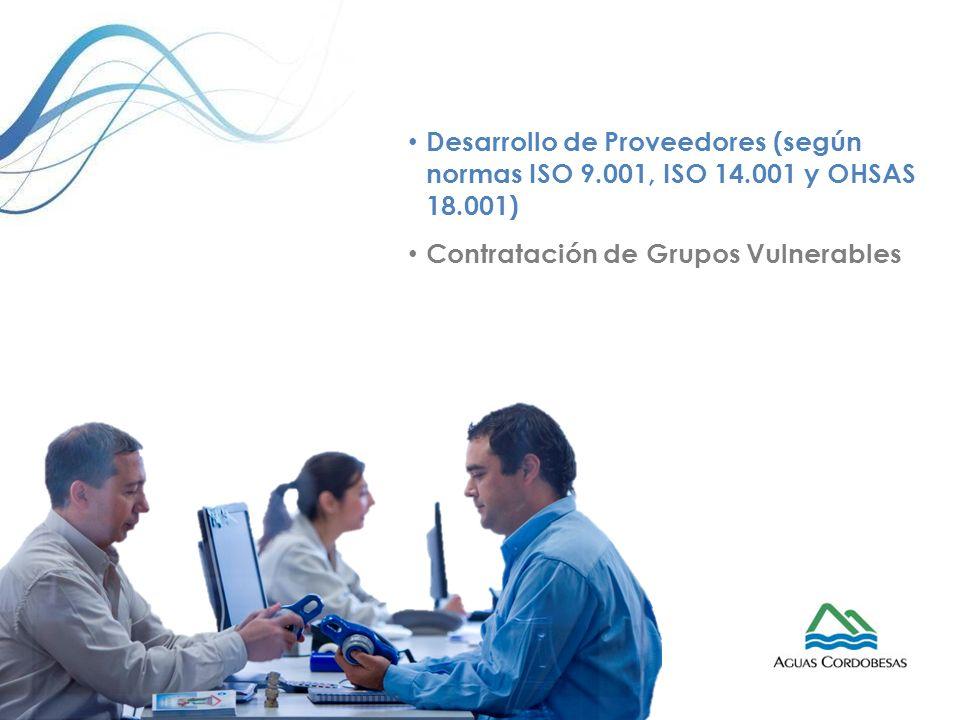 Desarrollo de Proveedores (según normas ISO 9. 001, ISO 14
