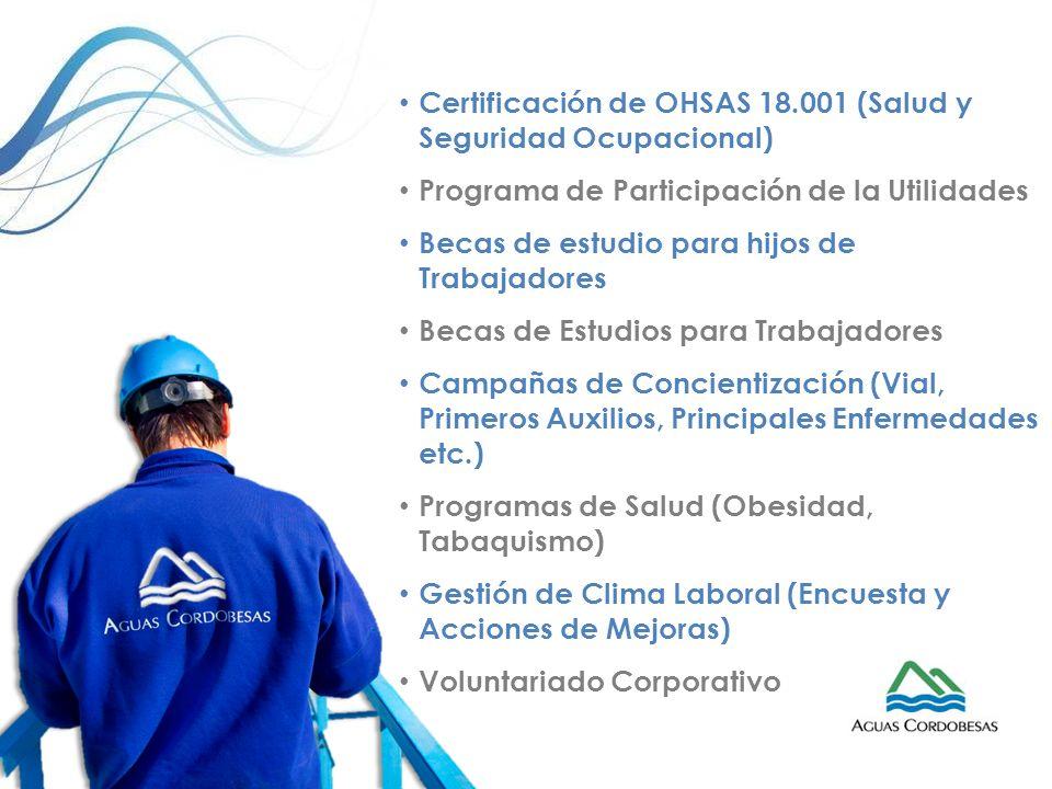 Certificación de OHSAS 18.001 (Salud y Seguridad Ocupacional)