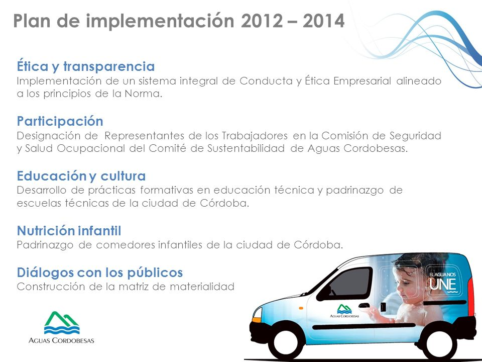 Plan de implementación 2012 – 2014