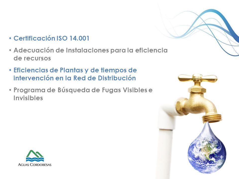 Certificación ISO 14.001 Adecuación de Instalaciones para la eficiencia de recursos.