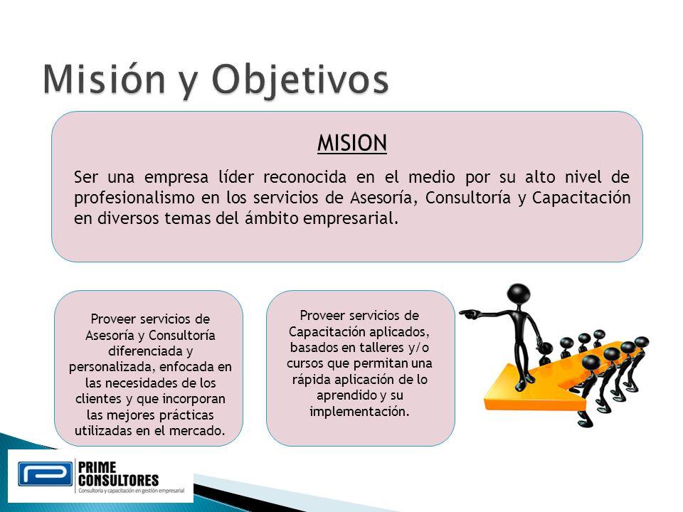 Misión y Objetivos MISION