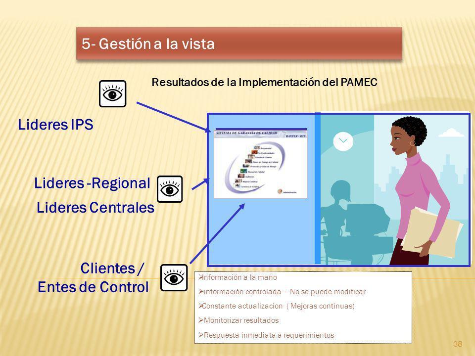 5- Gestión a la vista Lideres IPS Lideres -Regional Lideres Centrales