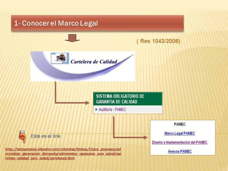 1- Conocer el Marco Legal