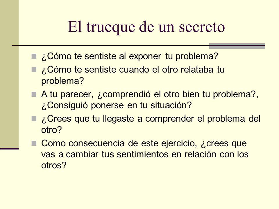 El trueque de un secreto