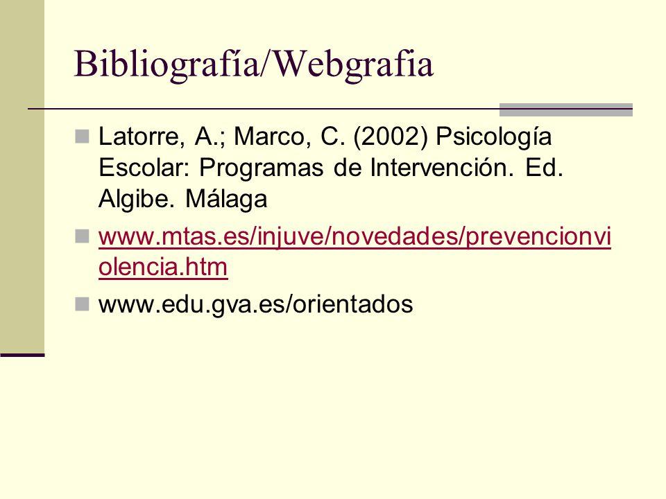Bibliografía/Webgrafia