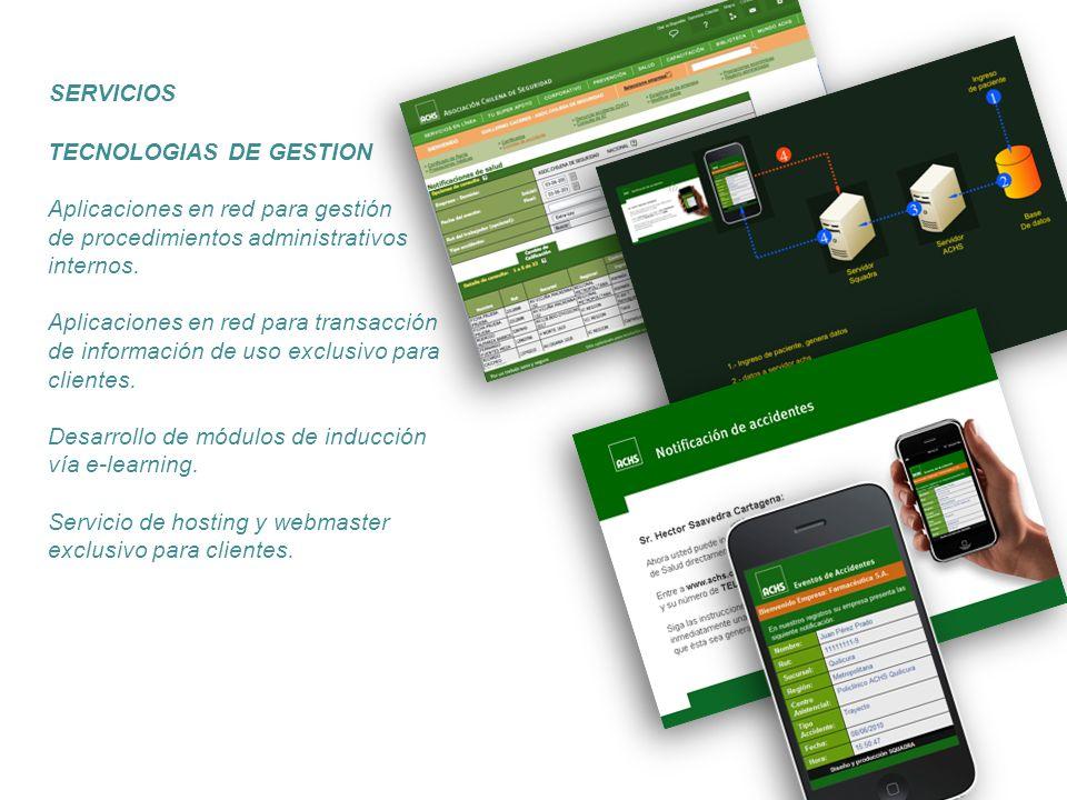 SERVICIOS TECNOLOGIAS DE GESTION. Aplicaciones en red para gestión. de procedimientos administrativos internos.
