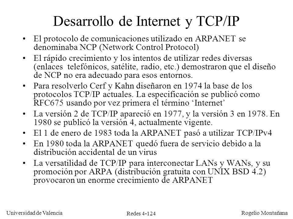 Desarrollo de Internet y TCP/IP