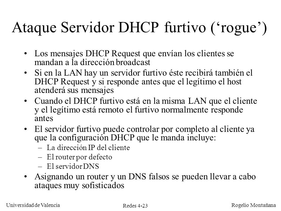 Ataque Servidor DHCP furtivo ('rogue')