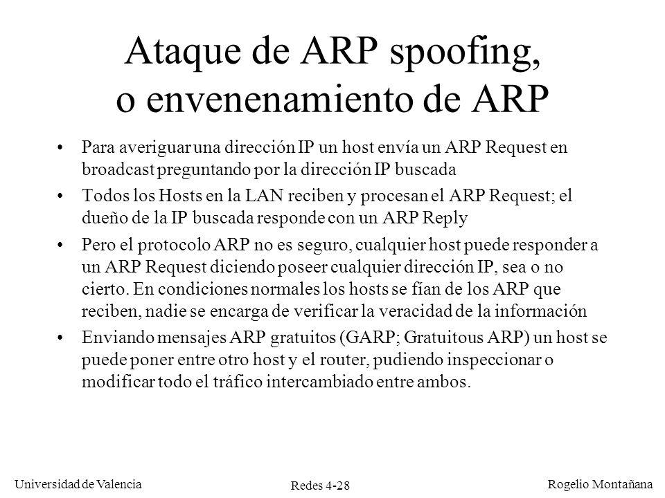 Ataque de ARP spoofing, o envenenamiento de ARP