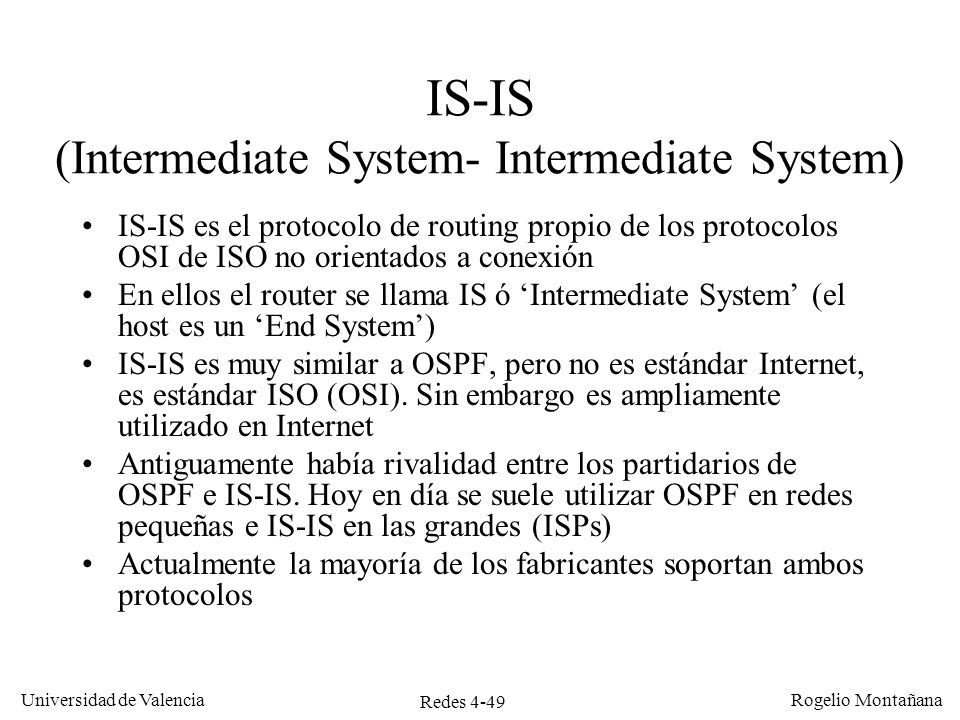 IS-IS (Intermediate System- Intermediate System)