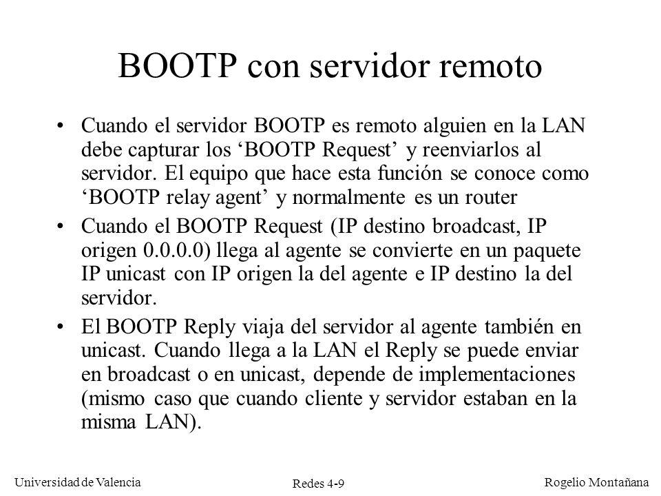 BOOTP con servidor remoto