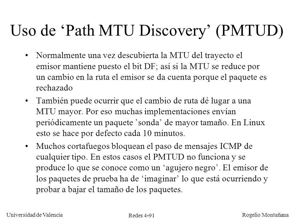 Uso de 'Path MTU Discovery' (PMTUD)