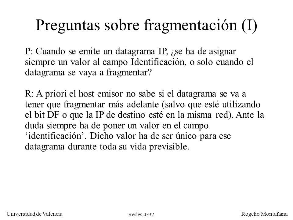 Preguntas sobre fragmentación (I)