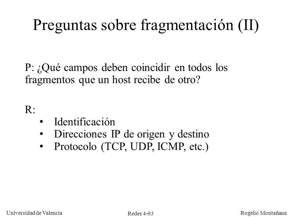 Preguntas sobre fragmentación (II)