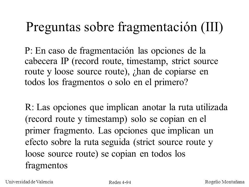 Preguntas sobre fragmentación (III)