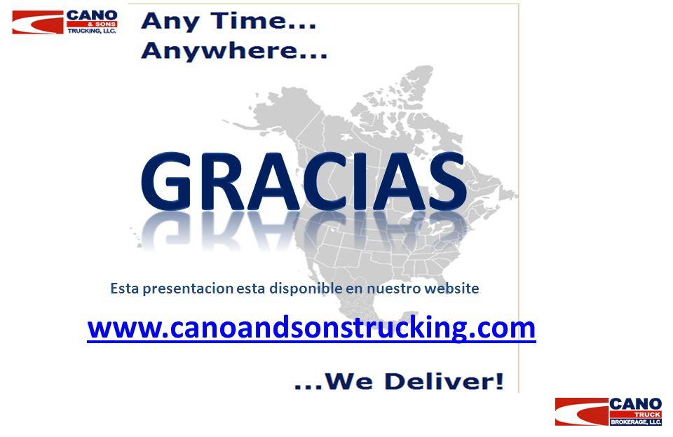 Gracias www.canoandsonstrucking.com
