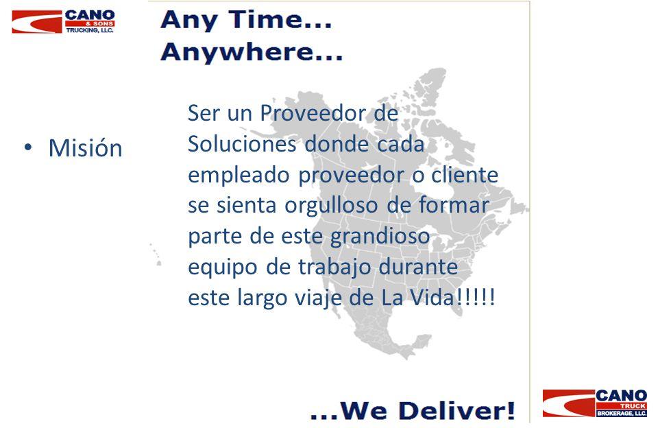 Ser un Proveedor de Soluciones donde cada empleado proveedor o cliente se sienta orgulloso de formar parte de este grandioso equipo de trabajo durante este largo viaje de La Vida!!!!!