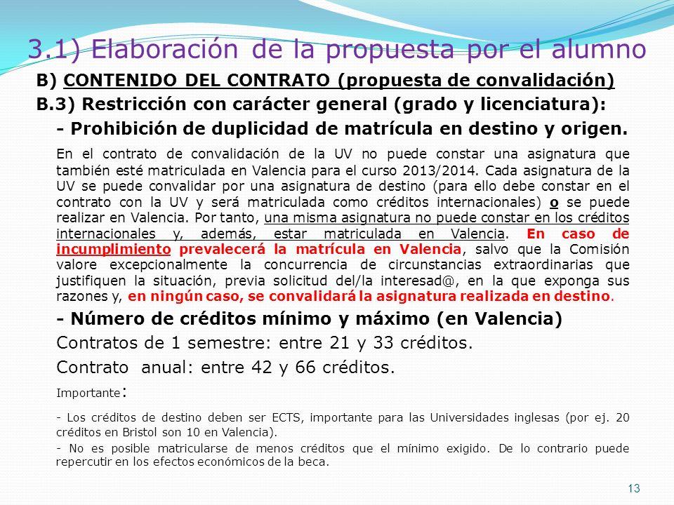 3.1) Elaboración de la propuesta por el alumno