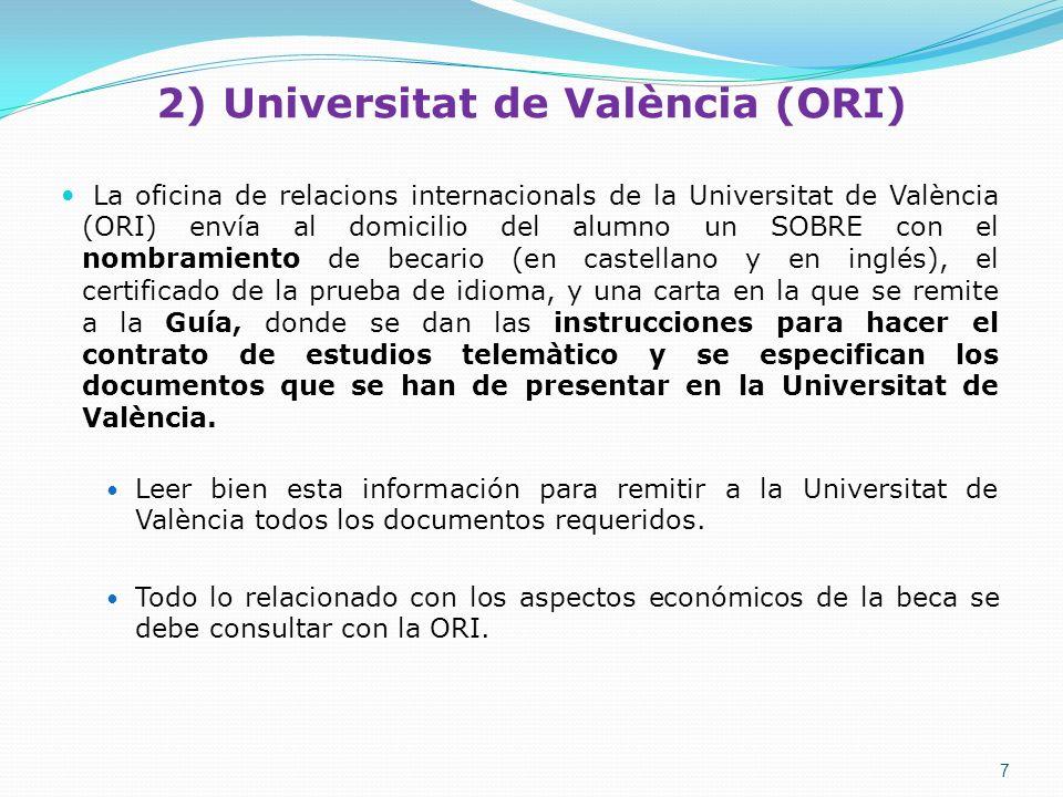 2) Universitat de València (ORI)