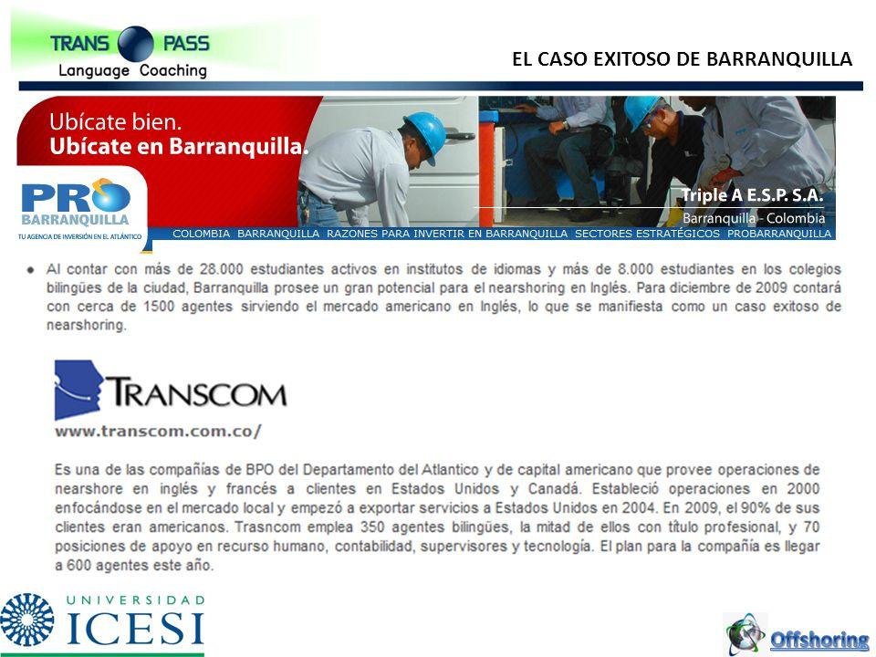 EL CASO EXITOSO DE BARRANQUILLA