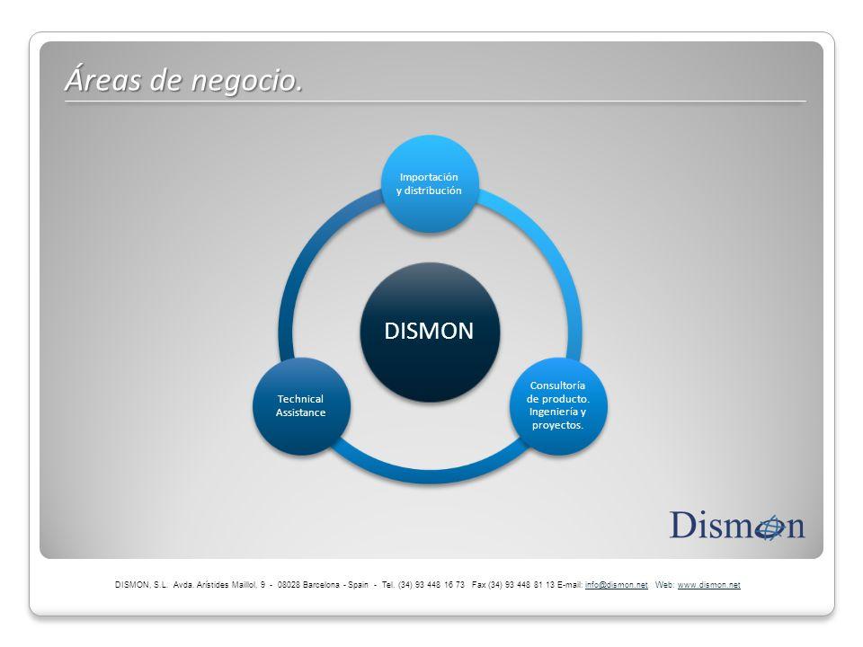 Áreas de negocio. DISMON Importación y distribución