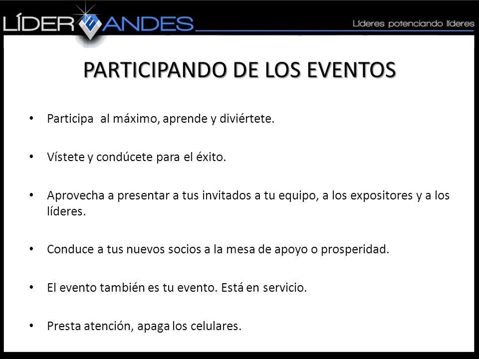 PARTICIPANDO DE LOS EVENTOS