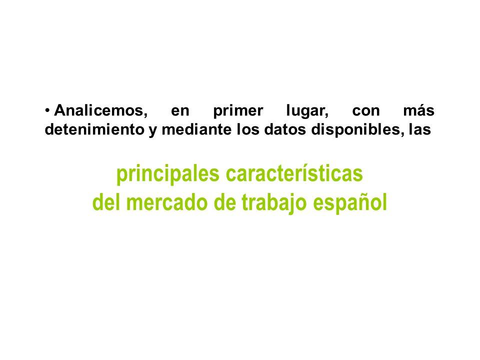principales características del mercado de trabajo español