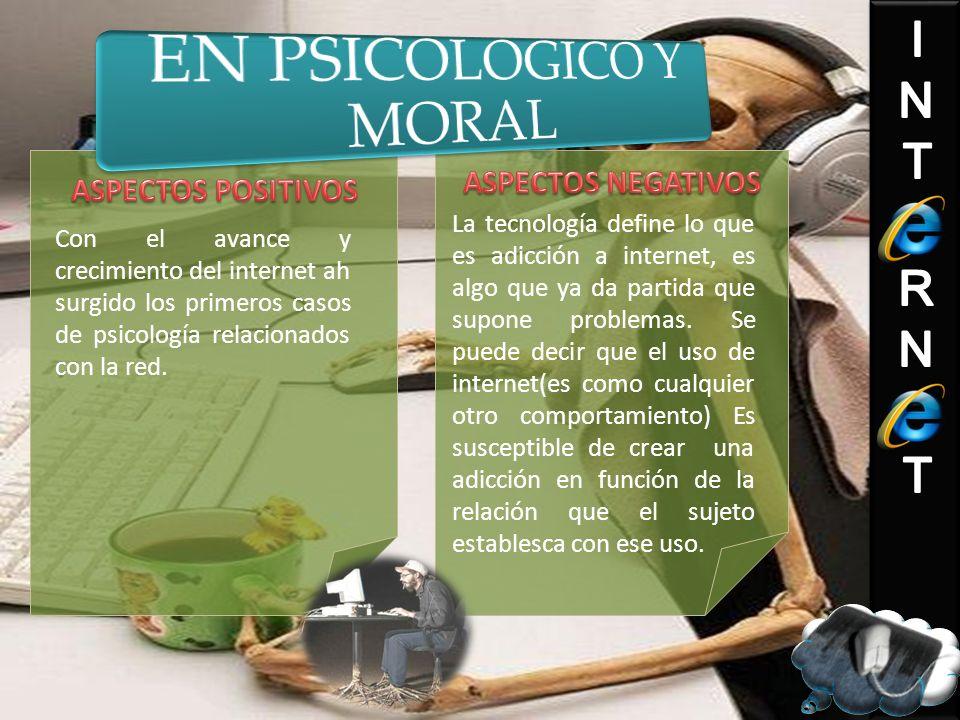 EN PSICOLOGICO Y MORAL ASPECTOS NEGATIVOS ASPECTOS POSITIVOS