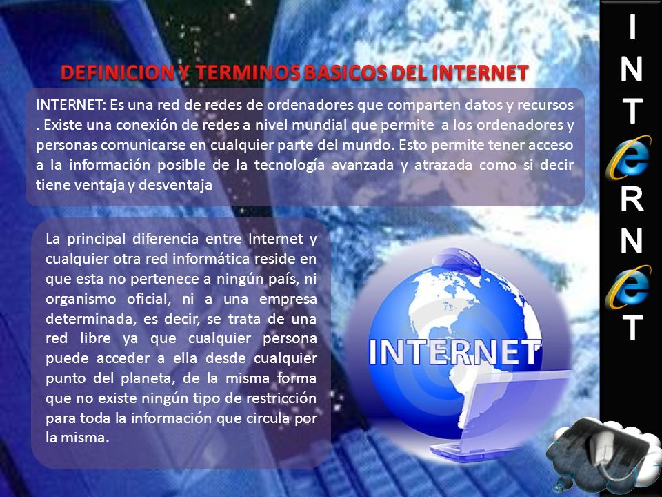 DEFINICION Y TERMINOS BASICOS DEL INTERNET