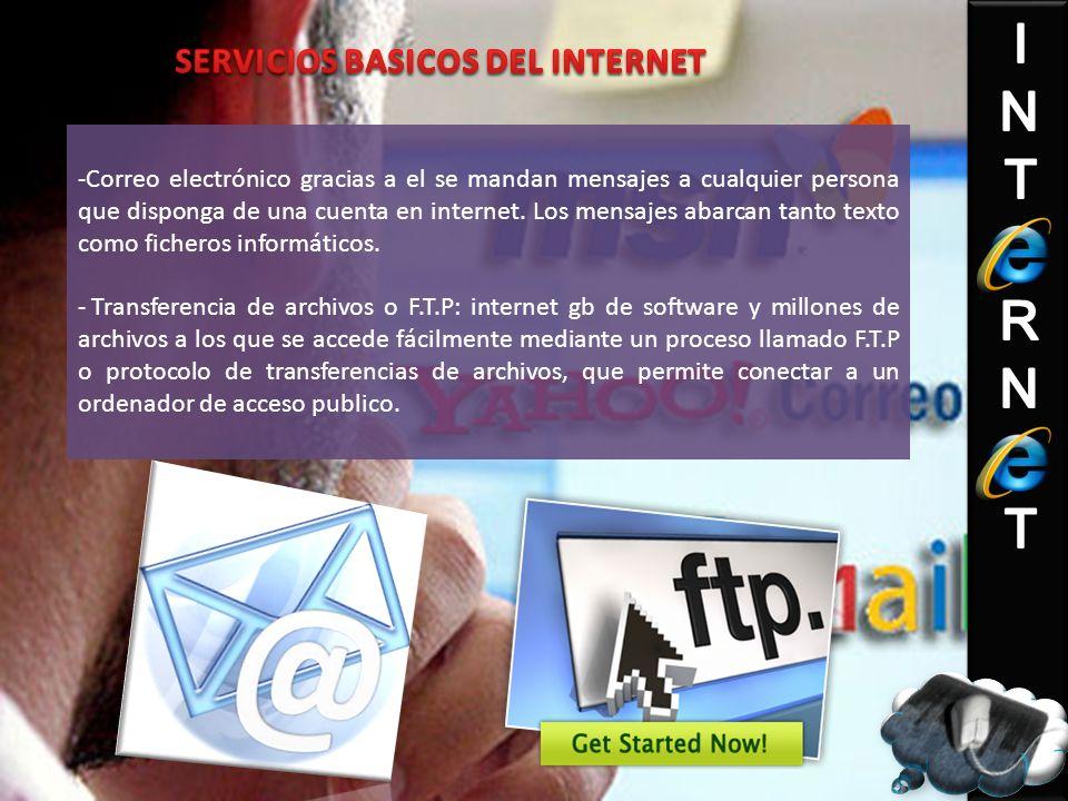 SERVICIOS BASICOS DEL INTERNET