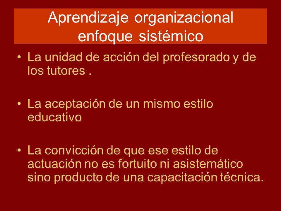 Aprendizaje organizacional enfoque sistémico