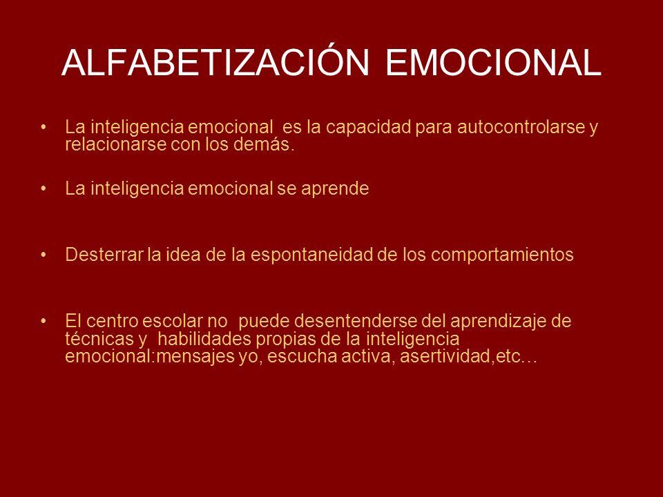 ALFABETIZACIÓN EMOCIONAL