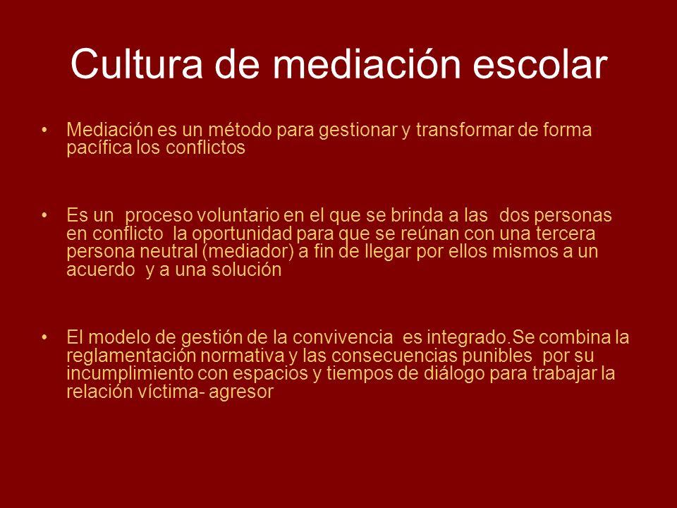 Cultura de mediación escolar