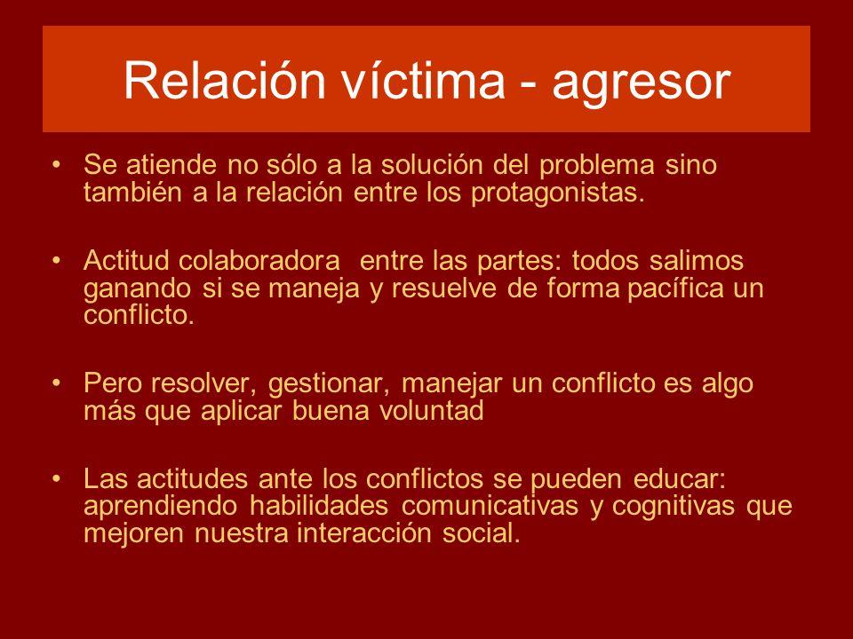 Relación víctima - agresor