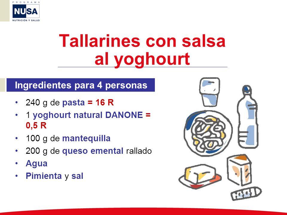 Tallarines con salsa al yoghourt