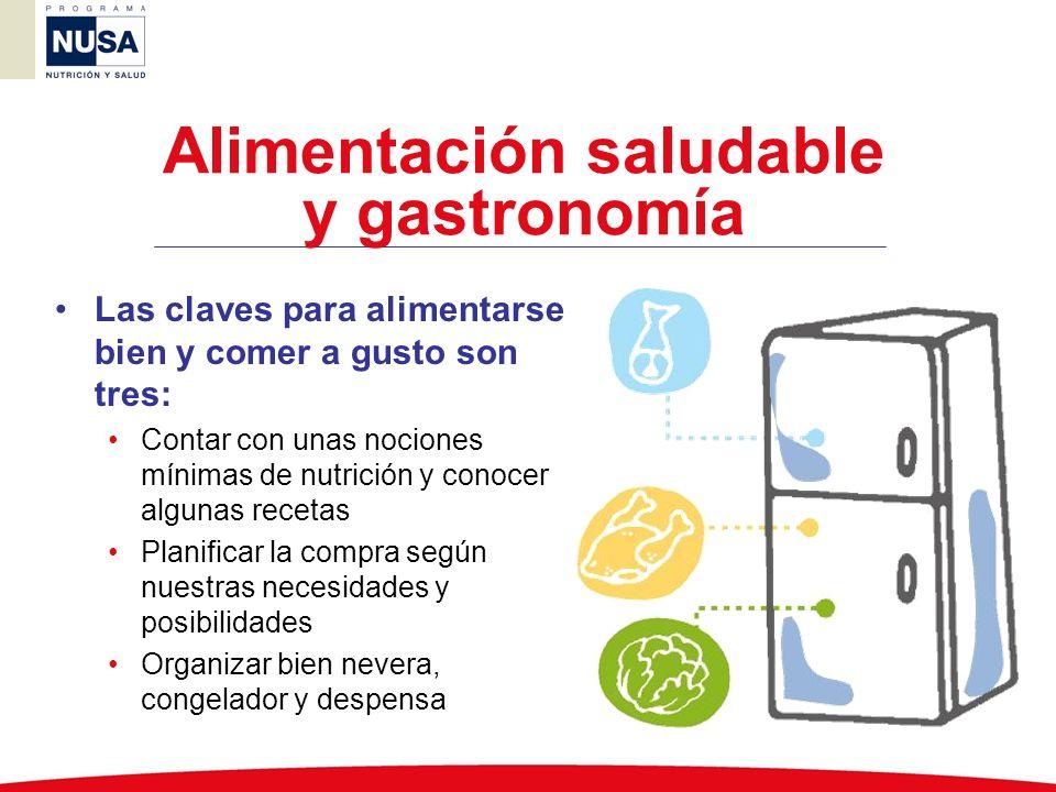 Alimentación saludable y gastronomía