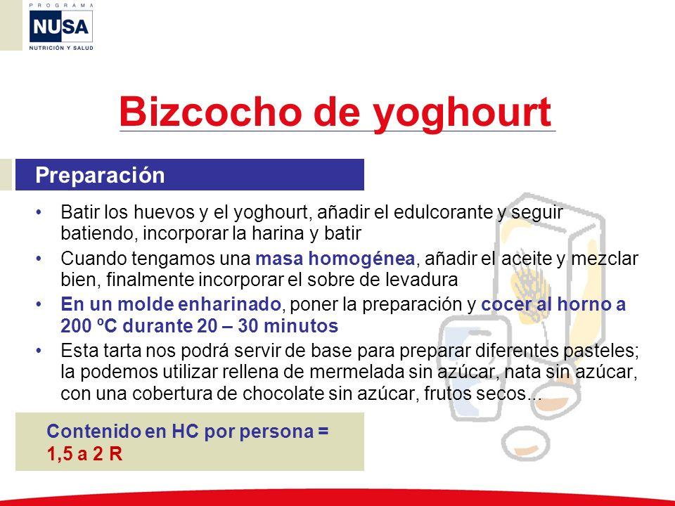 Bizcocho de yoghourt Preparación