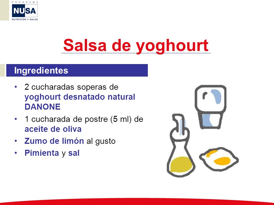 Salsa de yoghourt Ingredientes