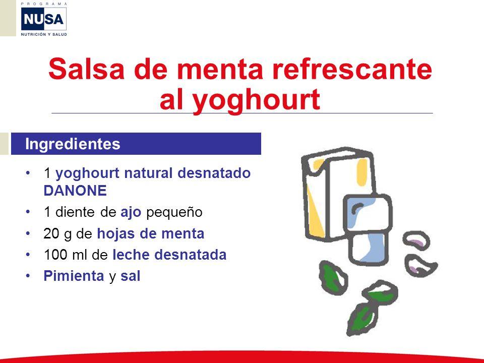 Salsa de menta refrescante al yoghourt