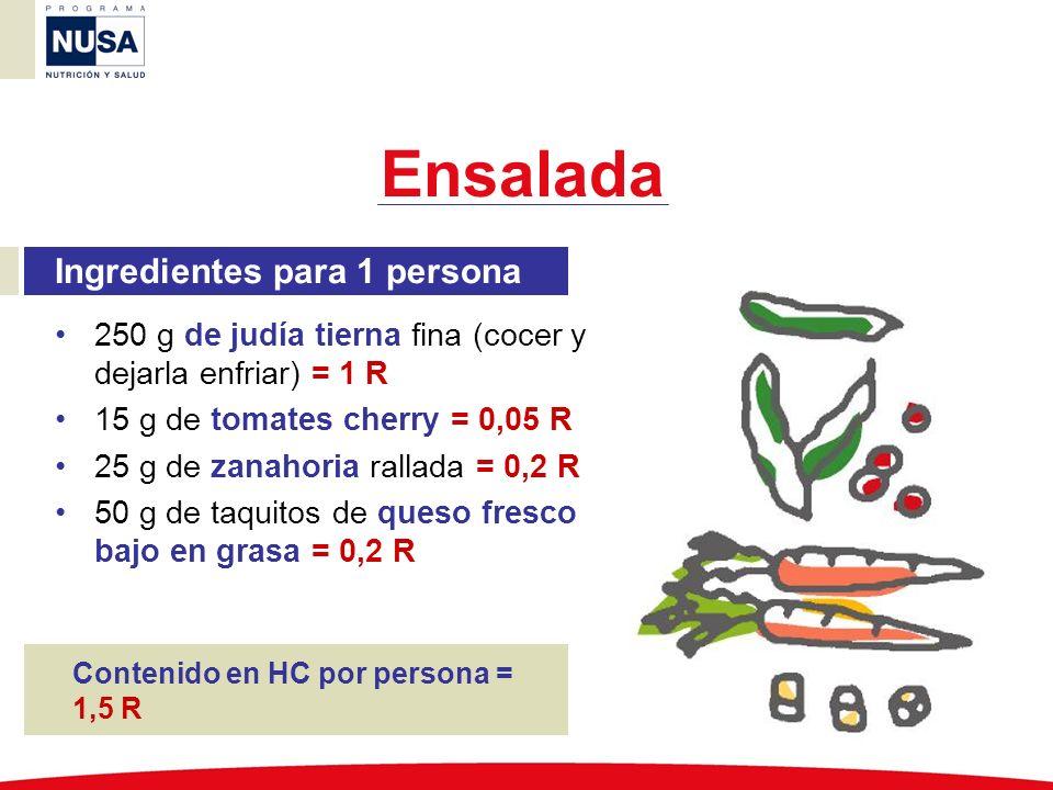 Ensalada Ingredientes para 1 persona