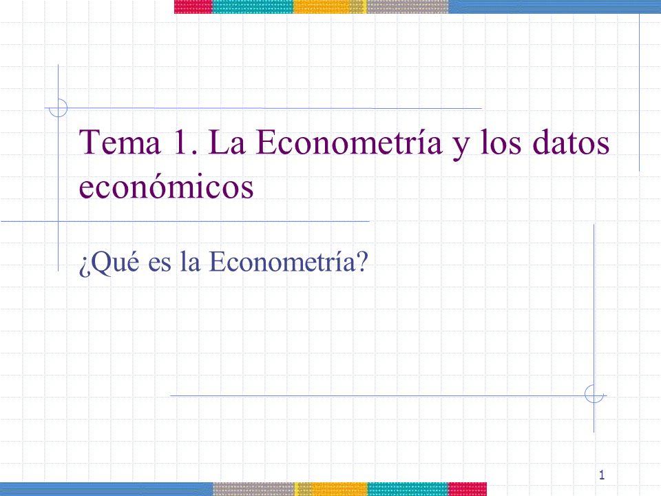 Tema 1. La Econometría y los datos económicos