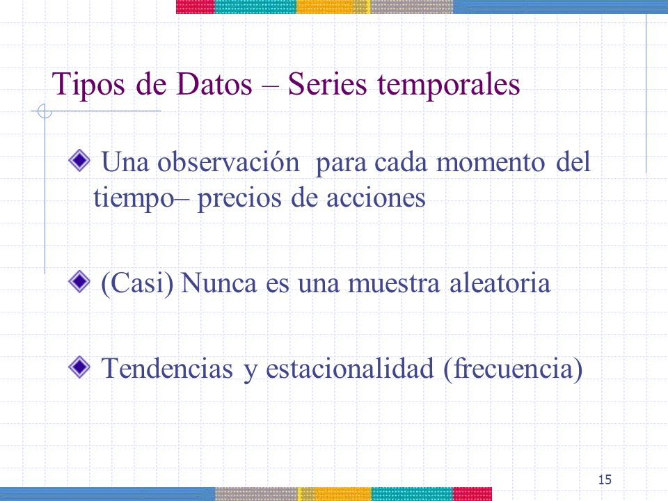 Tipos de Datos – Series temporales