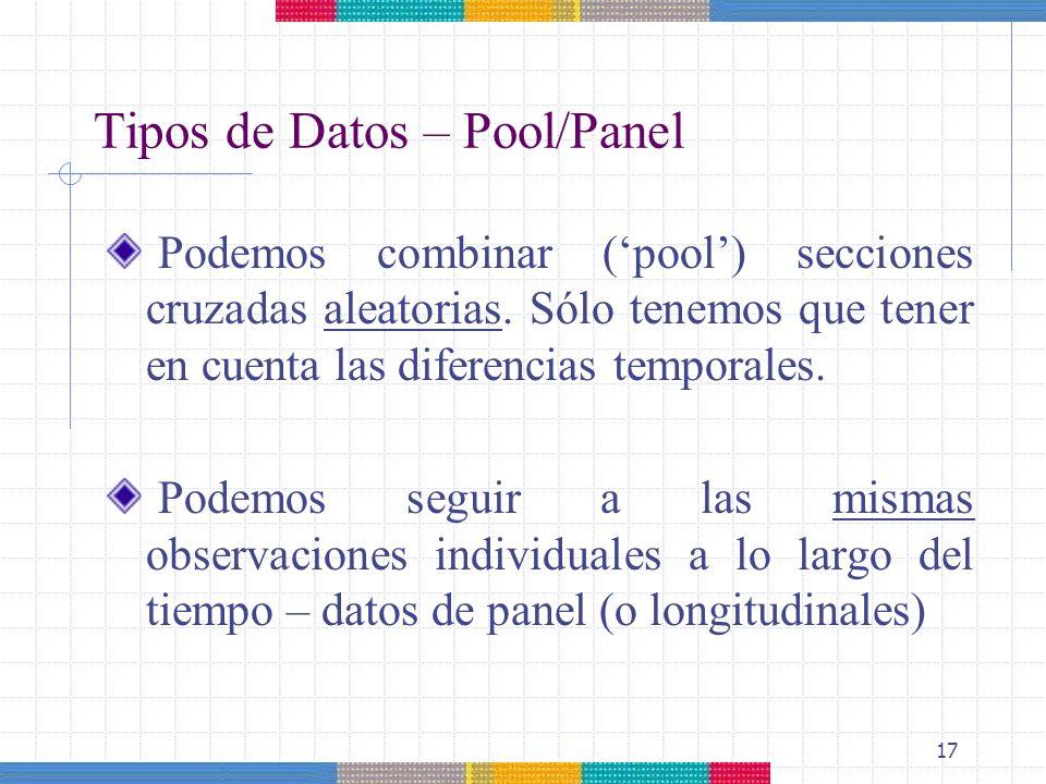 Tipos de Datos – Pool/Panel