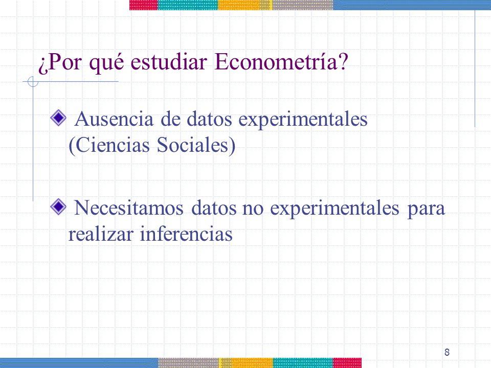 ¿Por qué estudiar Econometría