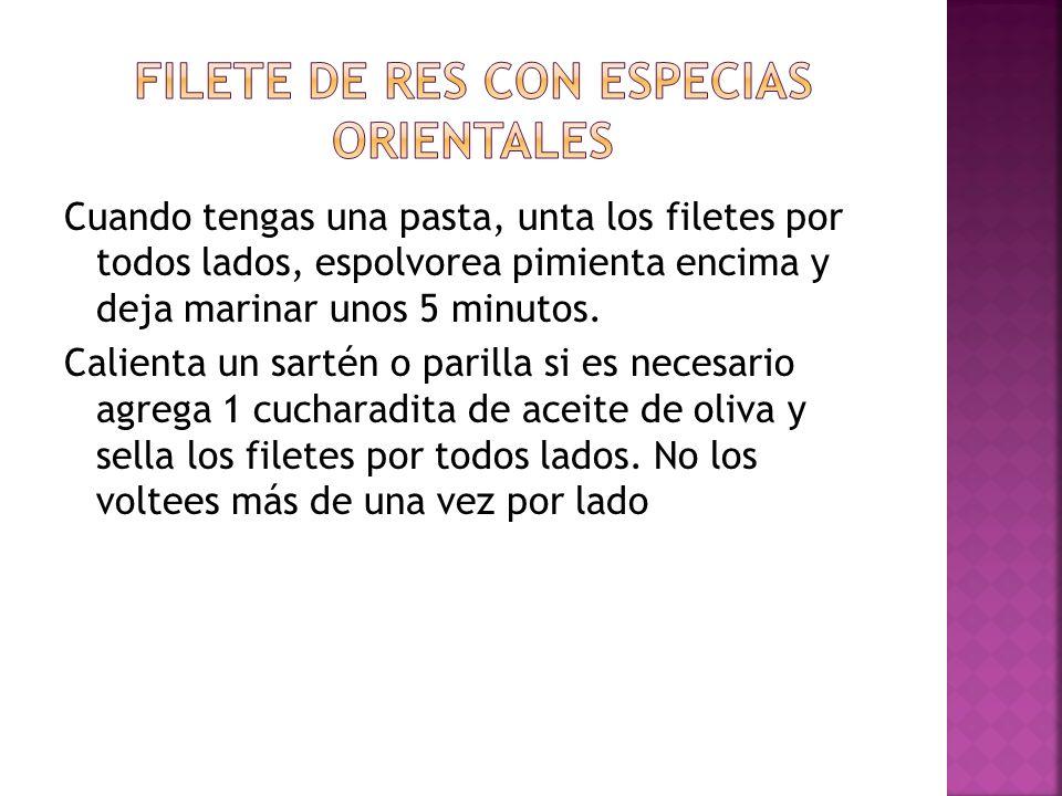 FILETE DE RES CON ESPECIAS ORIENTALES
